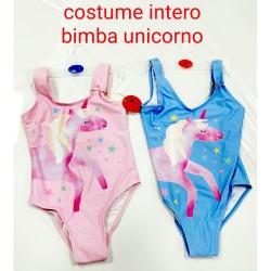 GROSSISTA COSTUME BAGNO INTERO UNICORNO BIMBA 2/8A