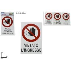 GROSSISTA CARTELLO DIVIETO DI ACCESSO 6ASS