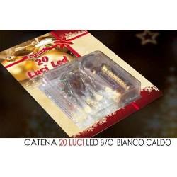 GROSSISTA CATENA 20 LUCI LED B/O BIANCO CALD