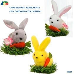 GROSSISTA CONF. TRASP. CONIGLIO C/CAROTA SU PRATO