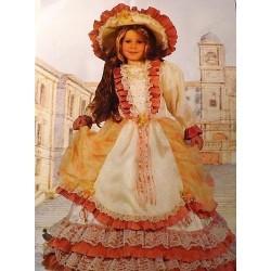 GROSSISTA COSTUME BAMBINA LADY ROMANTICA 5/7 ANNI