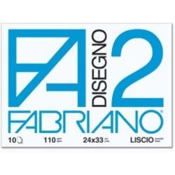 GROSSISTA FABRIANO BLOCCO F2 24X33 LISCIO