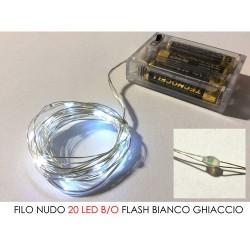 GROSSISTA FILO NUDO 20 LED B/O FLASH B.FREDDO