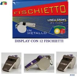 GROSSISTA FISCHIETTO METALLO C/GANCETTO C.12 5CM MADE IN CHI