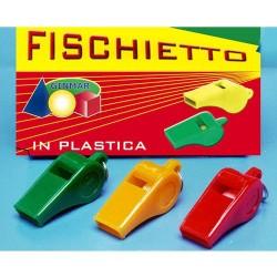 GROSSISTA FISCHIETTO PLASTICA C/GANCETTO COL.ASS.