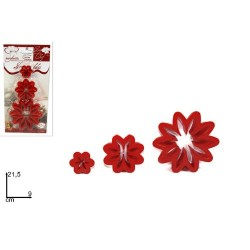 GROSSISTA FORMINE DOLCI MARGHERITE 3PZ ROSSO