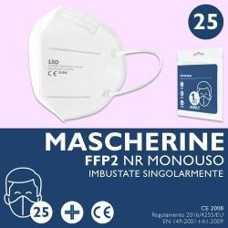 GROSSISTA MASCHERINA MONOUSO FFP2 B.CA PZ.5 X 6