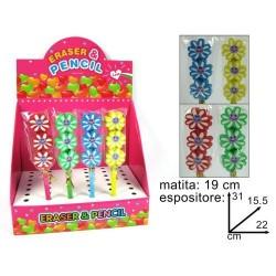 GROSSISTA MATITE C/GOMMA 3 FIORI
