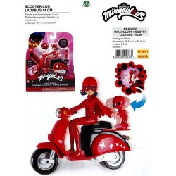 GROSSISTA MIRACULOUS SCOOTER LADYBUG 14CM BLISTER 26