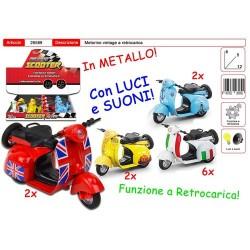 GROSSISTA MOTORINO VINTAGE A RETR LUCI E SUONI 6X5X12CM-C/LU