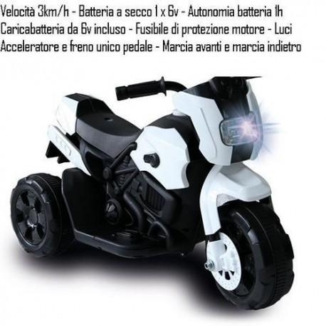 GROSSISTA MOTO MOTARD 6V B. VEL. 3 KM/H AUT.1H +3A 69X32X45C