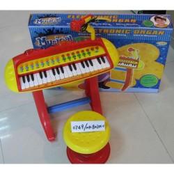 GROSSISTA PIANOLA CON SGABELLO E MICROFONO +3ANNI 68X11X47CM