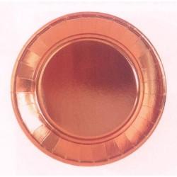 GROSSISTA PIATTI cm.23 pz.10 RAME METAL.