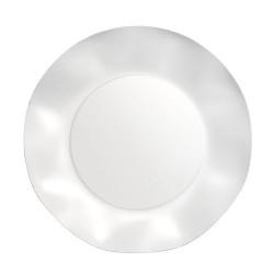 GROSSISTA PIATTI PLASTIF. GRANDI TWENTY PERLA 10PZ