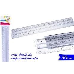 GROSSISTA RIGHELLO 30 CM C/LENTE INGRANDIMENTO