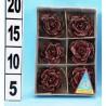 GROSSISTA ROSA ROSSA PZ.6 DA APPENDERE