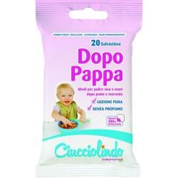 GROSSISTA SALVIETTE DOPO PAPPA PZ.20 CUCCIOLINDO