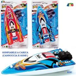 GROSSISTA SET MOTOSCAFO GONFIABILE A CARICA ASS. SET: 16X29C