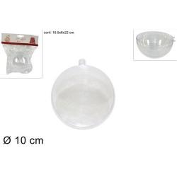 GROSSISTA SFERA PLASTICA TRASPARENTE 10cm