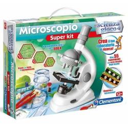 GROSSISTA MICROSCOPIO SUPER KIT 55 ESPERIMENTI 45X31X7CM CON