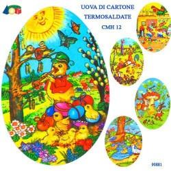 GROSSISTA UOVA CARTONE CM.12 CONTENITORE DECORATO