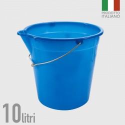 GROSSISTA SECCHIO LT.10 CON BECCO IN POLIETILENE