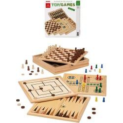 GROSSISTA TOP GAMES 30X30 DAMA SCACCHI BACKGAMMON DAL NEGRO
