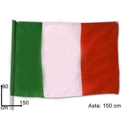 GROSSISTA BANDIERA ITALIA C/ASTA CM.90X150