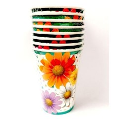 GROSSISTA BICCHIERI CC.200 PZ.8 FLOWERS
