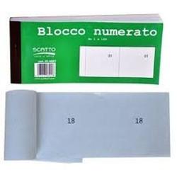 GROSSISTA BLOCCCO NUMERATO DA 1 A 100 13X6CM