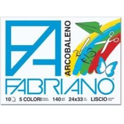 GROSSISTA BLOCCO FABRIANO ARCOBALENO 24X33 10FF