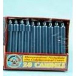 GROSSISTA BOX 20 CANDELE METALLICHE BLU