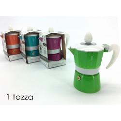 GROSSISTA CAFFETTIERA COLOE LUX 1 TAZZA 4ASS