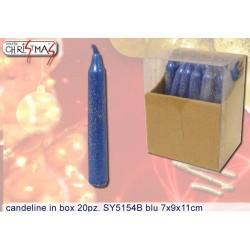 GROSSISTA CANDELINE IN BOX PZ.20 BLU