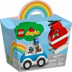 GROSSISTA LEGO 10957 ELICOTTERO ANTINCENDIO E AUTO DELLA POL