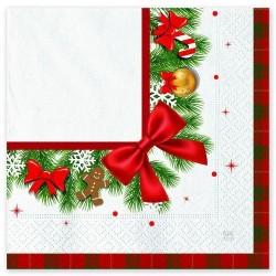 GROSSISTA TOVAGLIOLI 33X33 PZ.20 CHRISTMAS KILT