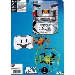 SKY ROLL NANO MINI DRONE CON ESA-TELAIO +14A-9CM-2.4GHZ-CAVO USB INCLUSO