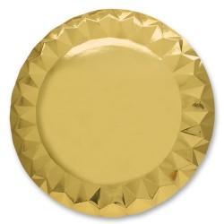 GROSSISTA SOTTOPIATTI DIAMANT CM.32 5PZ GOLD