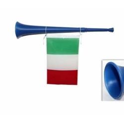 GROSSISTA TROMBA C/BANDIERA ITALIA ART.A440-B