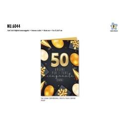 GROSSISTA BIGLIETTI COMPL. 50 PALLONCINI ORO C.6