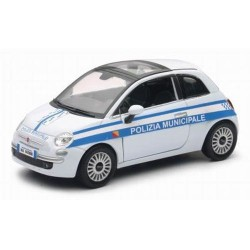 GROSSISTA FIAT 500 1:24 POLIZIA MUNICIPALE