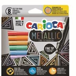 GROSSISTA CARIOCA METAL. FINELINER BOX 6 PZ FELT