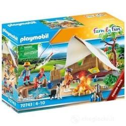 GROSSISTA PLAYMOBIL 70743 FAMIGLIA IN CAMPEGGIO