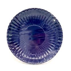 GROSSISTA PIATTI CARTA PLASTIF. 18CM 10PZ BLUE CIN