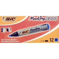 GROSSISTA BIC MARKER 2000 PUNTA TONDA BLU C.12