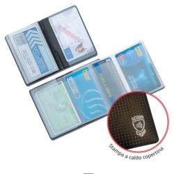 GROSSISTA CLASS CARD SCUDO CARBON P/CARD 5 SPAZI
